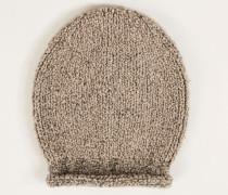 Grobstrick Mütze Beige
