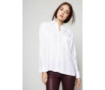 Oversize-Bluse Weiß