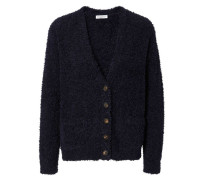Cardigan mit flauschiger Optik Navy