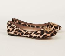 Leder-Ballerina 'Chelsea Ballet' Leopard