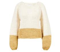 Handgestrickter Pullover 'Elena' /Gelb