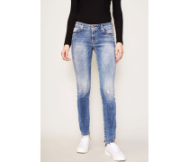 Jeans 'Pyper' im Destroyed-Look Hellblau