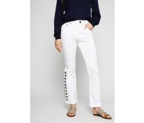 Jeans mit Knopf-Details Weiß