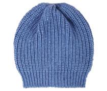 Cashmere-Seiden-Mütze mit Paillettendetails