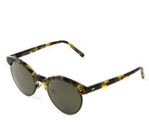 Sonnenbrille 'Ezelle' in Hornoptik Grün/Braun