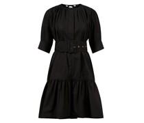 Baumwoll-Kleid mit Gürtel
