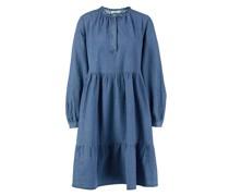 Baumwoll-Jeanskleid Mittelblau