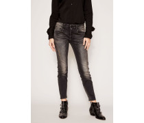 Jeans 'Boy Skinny' im Destroyed-Look Schwarz