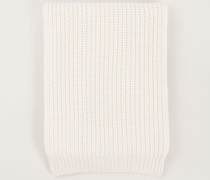 Grobstrick Cashmere-Schal Pure White