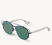 Verspiegelte Sonnenbrille 'Technologic' Blau/Weiß