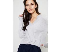 Klassischer Baumwoll-Cashmere-Pullover Grau