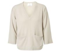 Cashmere-Pullover mit Taschen Beach/Beige
