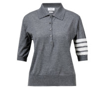Poloshirt aus Merino Wolle Grau