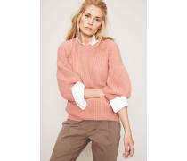 Cashmere-Pullover mit weiten Ärmeln Apricot