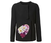 Jacke mit Blumendetail Schwarz/Multi