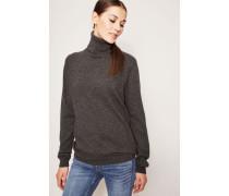 Klassischer Cashmere-Pullover mit Rollkragen Anthrazit