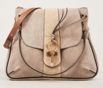 Veloursleder-Schulter-Tasche 'Lexa Medium' Motty Grey