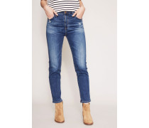 Jeans 'The Isabelle High Rise Straight Crop' Blau