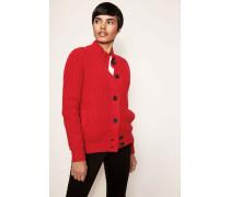 Gefütterte Woll-Cashmere-Jacke Rot