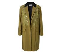 Mantel mit Paillettenstickerei 'Rolt' Khaki