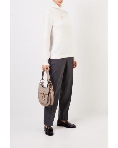 Cashmere-Pullover mit Turtleneck Crème