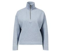 Baumwoll-Pullover mit Reißverschluss