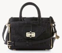 Strukturierte Handtasche 'Gallery Mini' Schwarz