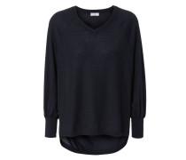 Lässiger Pullover Marineblau