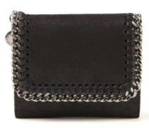 Portemonnaie mit Ketten-Detail 'Small Flap Wallet' Schwarz