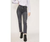 High Rise Cigarette Jeans 'Cara' Grau