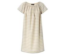 Gestreiftes Kleid Beige/Multi