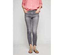 Jeans 'High-Rise Skinny Ankle' Grau