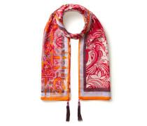 Paisley-Tuch mit Quasten-Details Pink/Multi