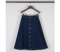 Midi-Jeansrock 'W'S Denim Long Skirt' Blau