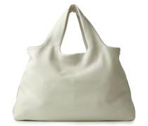 Shopper mit Perlen-Details Weiß