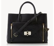 Handtasche 'Gallery Large' Schwarz