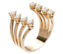 Ring 'Dots' mit Diamanten 18K Rotgold