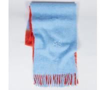 Zweifarbiger Wollschal 'Kelow' Red/Sky Blue