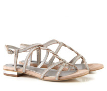 Verzierte Sandale Nude/Silber