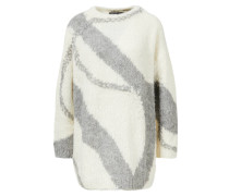 Oversized Alpaka-Pullover 'Vitesa' Crème/Grau