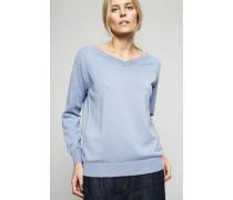 Cashmere-Pullover Mittelblau