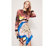 Seiden-Kleid mit Mustermix Multi