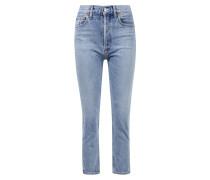 High Rise Crop Jeans 'Riley' Hellblau
