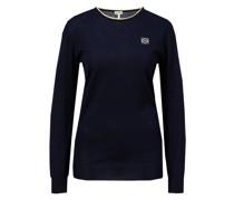 Cashmere-Pullover mit Anagram Stickerei Dunkelblau