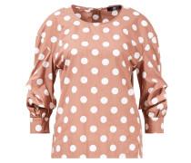 Bluse mit Polka Dots 'Sommer Dot'  /Weiß