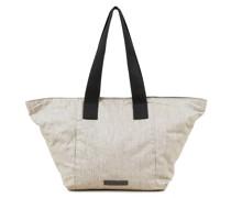 Leinen-Handtasche Beige/Grau