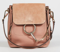Rucksack 'Faye Backpack' mit Veloursleder-Detail Nougat