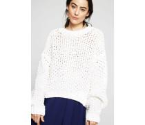 Oversize-Grobstrick-Pullover 'Ohnyx' Weiß