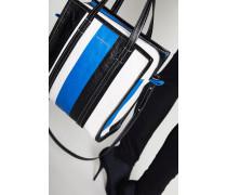 Shopper 'Bazar S' Blau/Weiß/Schwarz