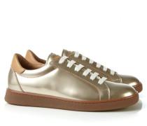 Glänzender Sneaker Gold